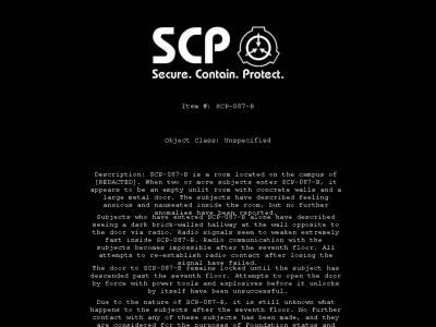 SCP-087-B v1.0 / SCP-087-B v2.0 (2012 / 2013 - Eng)